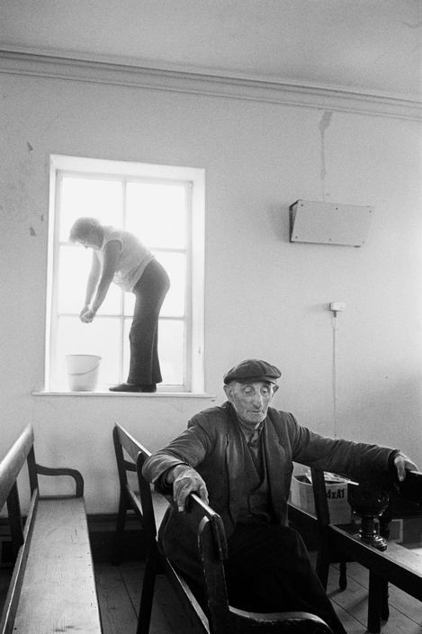 Magnum Photos Photographer Portfolio. Martin Parr GB. England. West Yorkshire. Calderdale. Crimsworth Dean Methodist Chapel. Annual Spring clean in preparation for the Anniversary Service. 1977.