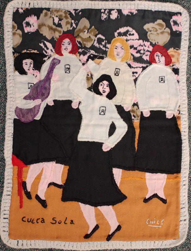 "Arpillera, Marjorie Agosín: ""La Cueca Sola / They Dance Alone"". The Art of Survival"", An Exhibition of Chilean Arpilleras, Harbour Museum, Derry, Ireland. 2008."