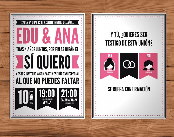Invitaciones de boda rock Magenta Panda Boda original Pinterest Traditional, Lol and Rocks