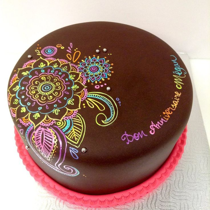 Hand painted mandala cake by buttercreamfantasies on DeviantArt
