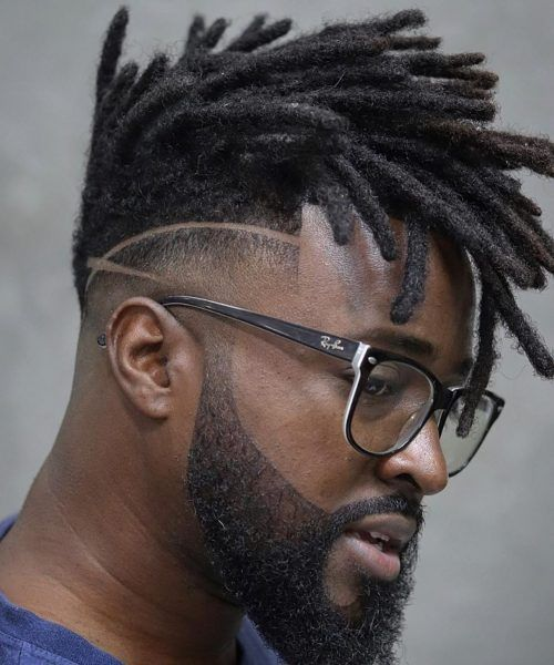 Check out these sweet braids for guys with medium to long hair. Black Men Haircuts, Black Men Hairstyles, Boy Hairstyles, Braided Hairstyles, Dreadlock Hairstyles For Men, Dreadlock Styles For Men, Dreadlock Mohawk, Dreadlocks Men, Natural Afro Hairstyles