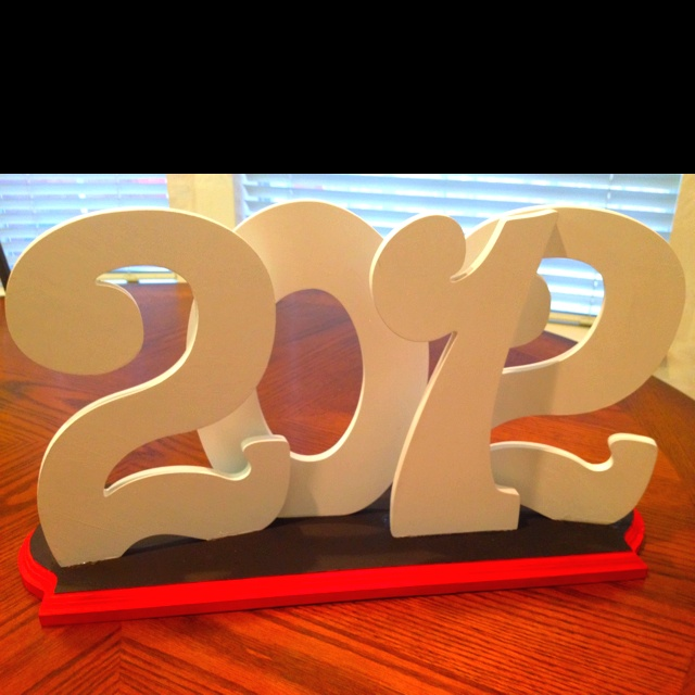 Graduation Decoration Ideas! Wood letters and add lots of glitter!
