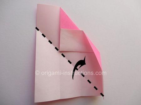 Origami Magie Rose Cube Etape 8