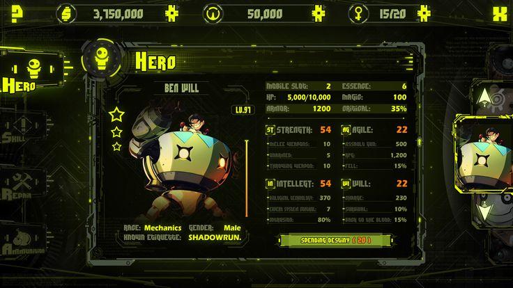 ArtStation - 赛博朋克CyberPunk ERA Game Ui Design, Michael Vee