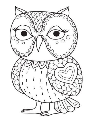 Blank Book Journal: Owl Zentangle Cover Diary Notebook: 8