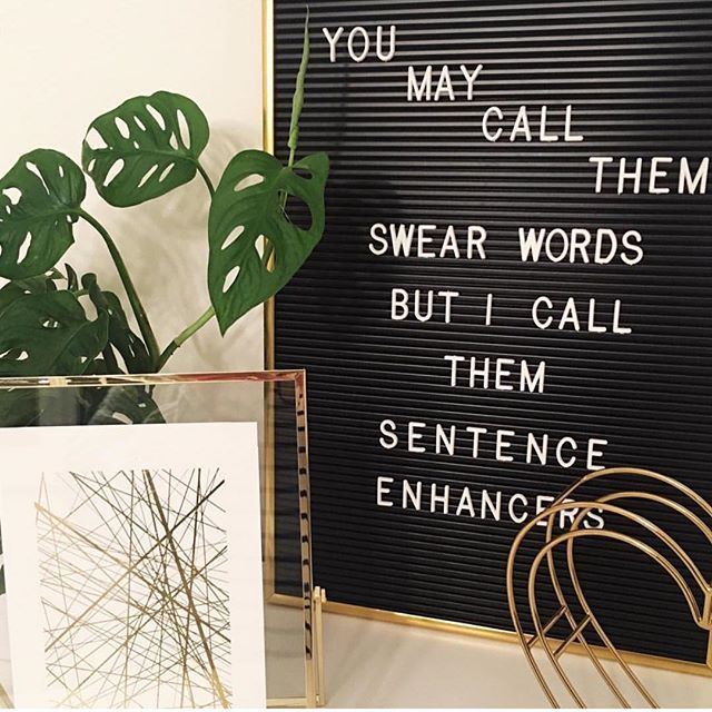 You may call them swear words but I call them sentence enhancers