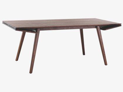 WING BROWNS Wood Walnut extending dining table - HabitatUK