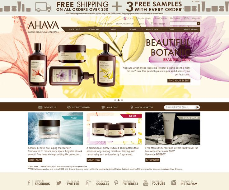 AHAVA Coupons and Deals http://goo.gl/eA87X5  40% off all Men's products use code: FATHERSDAY40 Valid till: 18-June-2014 http://goo.gl/eA87X5  GetCouponButtonBuy 1 product, get the 2nd product of equal or lessor value for 60% OFF use code SUMMERPARTY Valid till: 17-June-2014