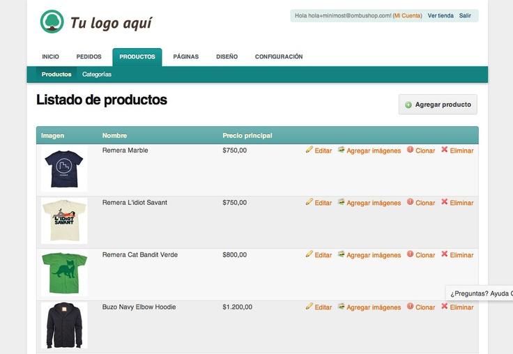 Panel de administración para tu propia tienda virtual. Administra tus productos, categorías, fotos, dirección, logo, diseño y otras cosas para vender más!