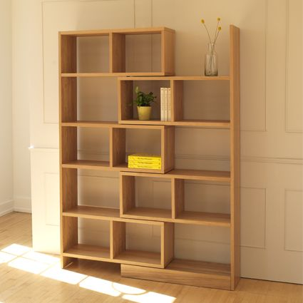 Heal's Cell Extending Shelving Unit. Hugely flexible, the Cell bookcase can  be opened and