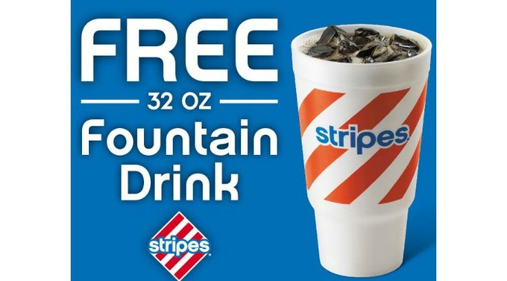 HURRY! FREE Fountain Drink at Stripes Convenience Stores  6/13 & 6/14 ONLY (TX,OK, NM) - http://gimmiefreebies.com/hurry-free-fountain-drink-at-stripes-convenience-stores-61316-61416-only-tx-ok-nm/
