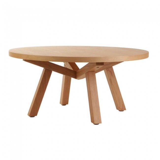 Forte Round Timber Coffee Table 90cm
