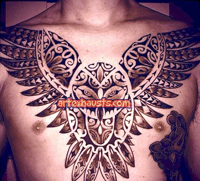 Tattoo Burung Hantu Di Dada