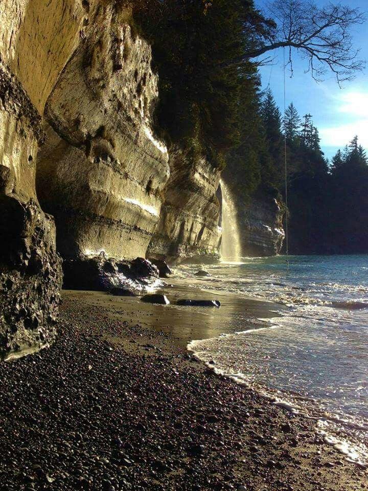 Mystic  beach near Jordan river  Vancouver Island