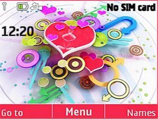Love Design theme for Nokia C3 & X2-01 320x240, asha 200, Asha 201, Asha 205, Asha 302, Asha 303, C3, C3 & X2-01 Theme, colors clock theme, download free, HTC 7 Mozart, mobiiles theme, nokia theme, X2-01