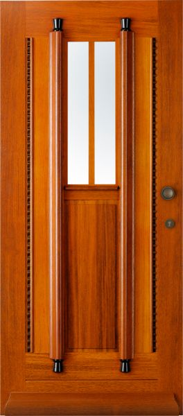 """Buitendeur, """"Zomer"""", van Horizon Deuren in de categorie Merbau voordeuren uit de serie """"Jaren '20 - '30"""""""