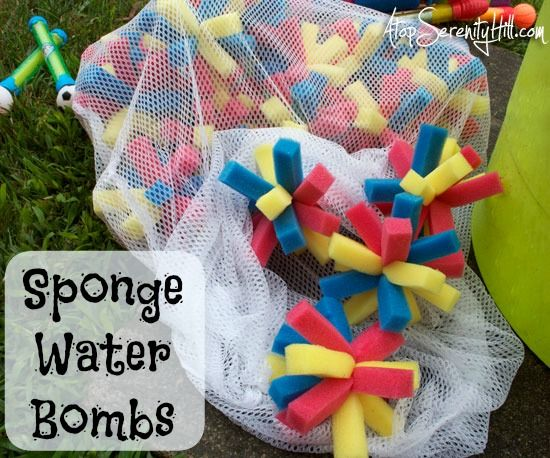 Lego inspired sponge water bombs « Atop Serenity Hill #birthdayparty # summer