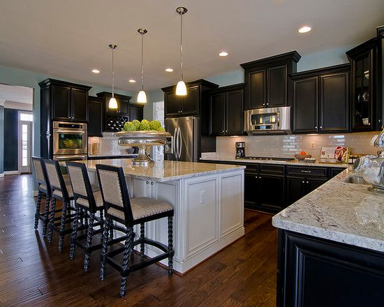 Black And White Traditional Kitchen best 25+ black kitchen cabinets ideas on pinterest | gold kitchen