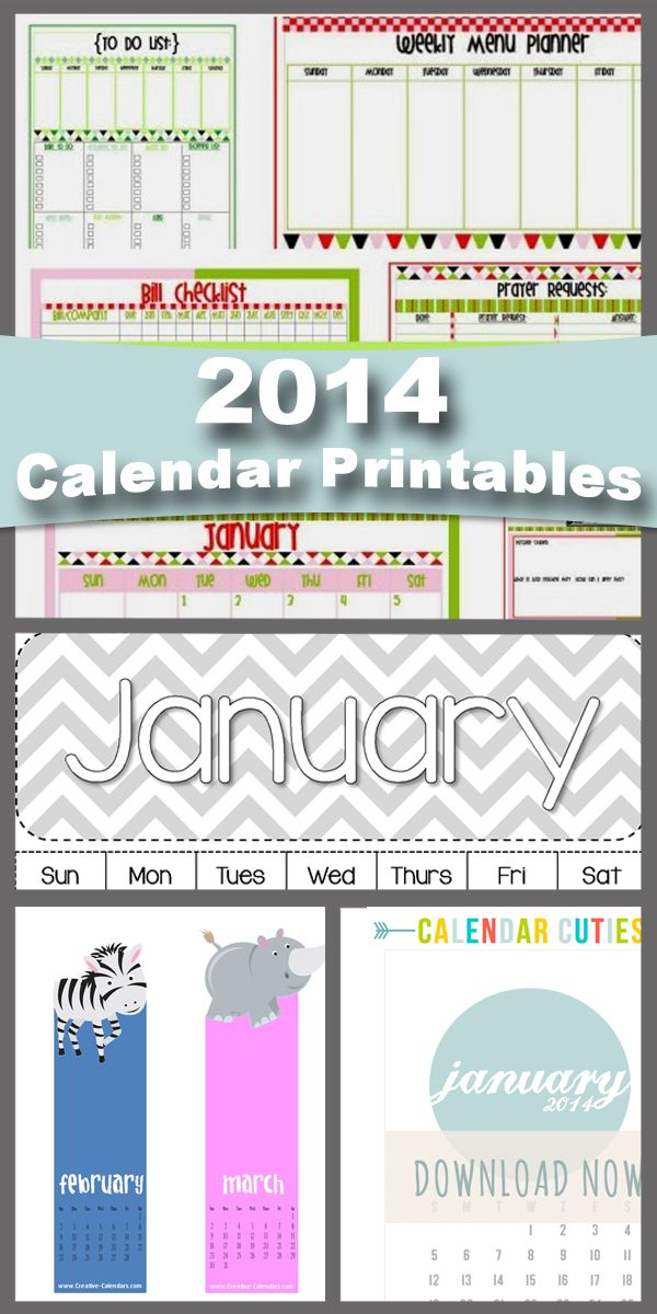 Home Organization free printables...Organize your time…put it on the calendar! | How Does She