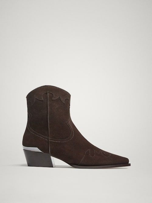 de4d6ad6b04 Women's Ankle Boots   Massimo Dutti Fall Winter 2018   boots in 2019 ...