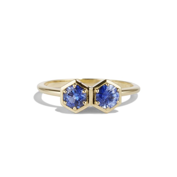 DOUBLE HEX RING - Cushla Whiting