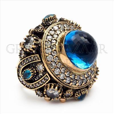 Designer Turkish Jewelry Handmade by Jewelers & Artisans of the Grand Bazaar in Istanbul Turkey GBJ1455 Ethnic Jewelry Online Shop GrandBazaarJewelers.com