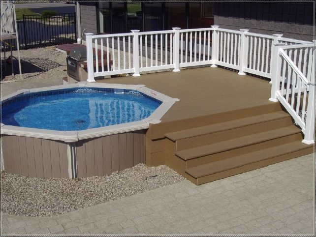 extraordinary above ground composite pool decks with brushed stainless steel for outdoor grill ideas also resin pool fence kit for above ground pools