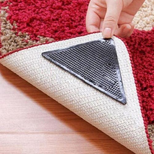 4 Rug Carpet Mat Grippers Non Slip
