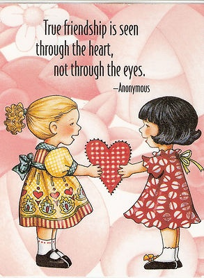 True Friendship Seen Through Heart not The Eyes