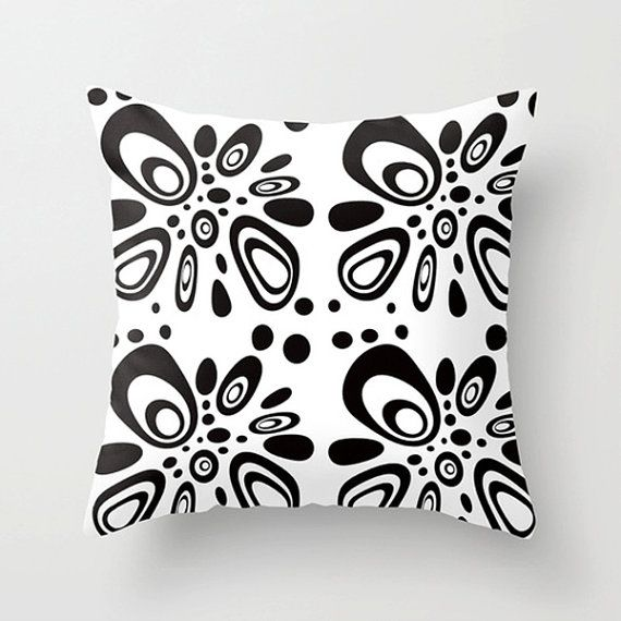 throw pillow cover black u0026 white pillow cover by