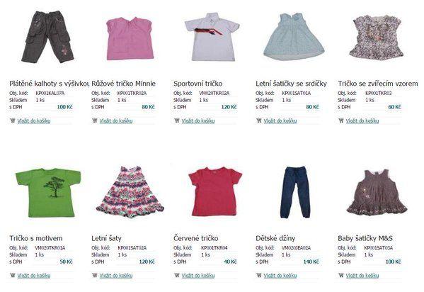 Eshop s oblečením - ModaNaDruhou: prodej užitého oblečení pro děti online