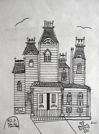 17 best images about houses on pinterest house drawing Haunted house drawing ideas