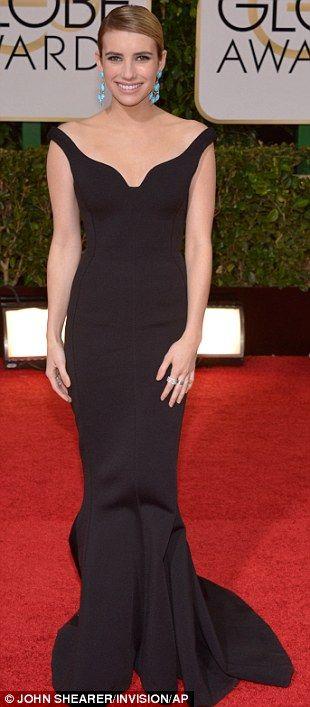 Emma Roberts at 2014 Golden Globes