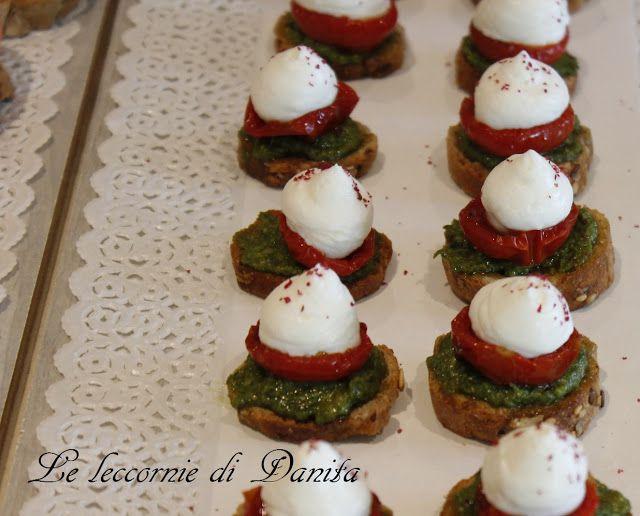 Le leccornie di Danita: Pomodorini confit con mousse di ricotta