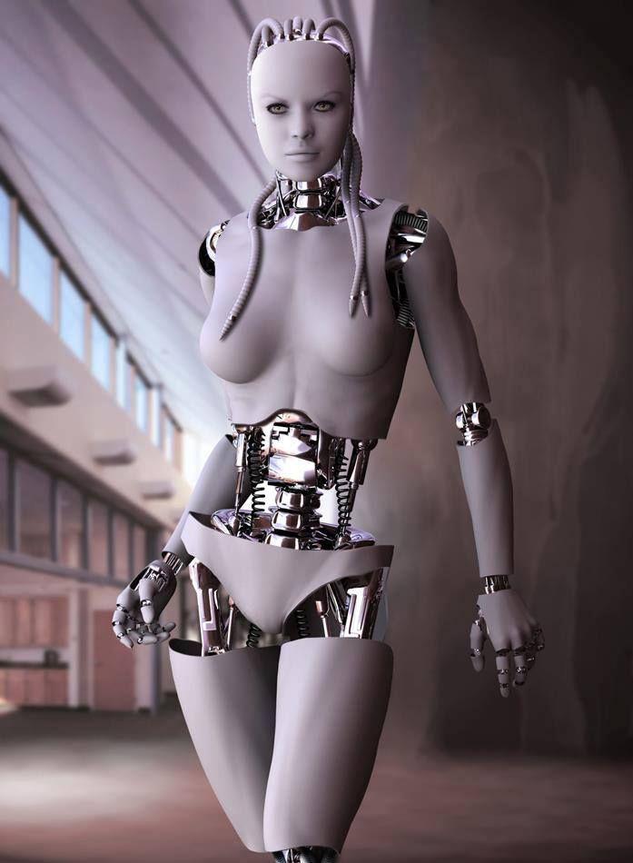 Sexy mech robot girl
