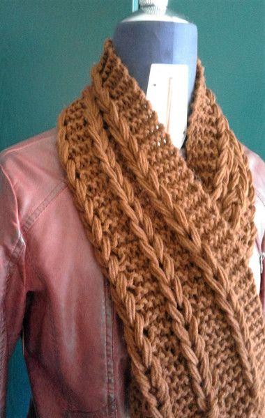 Sciarpe ad anello di lana - maxi sciarpa e fascia capelli - un prodotto unico di bandullera su DaWanda