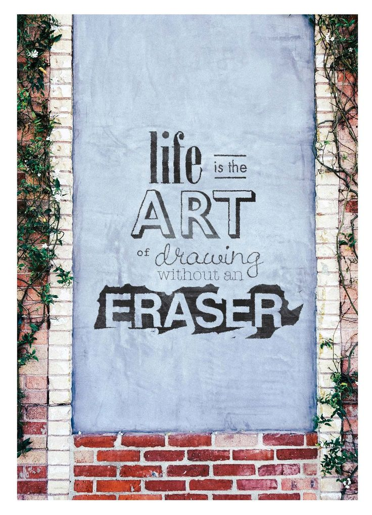 """""""Life is the art of drawing without an eraser"""" Card by Ryan Molag"""