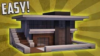 Minecraft: How To Build A Small Modern House Tutorial (#9)