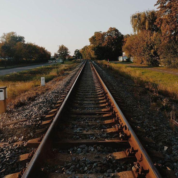 #rails #vsco #travelstoke #walk #city #trains #sunset