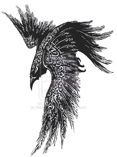 Celtic Raven Tattoo Concept