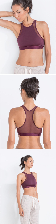Burgundy sports bra perfect for dance
