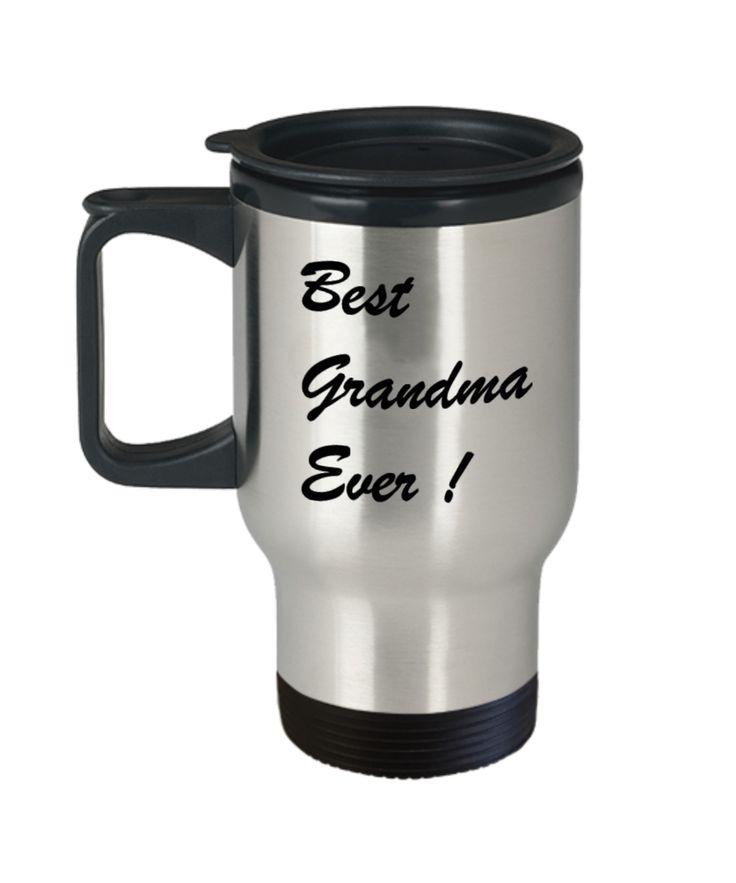 Best Grandma Ever Travel Coffee Mug Gift Cup - Travel Mug Travel Coffee Mugs Tea Cups 14 OZ Gift Ideas Tea Cup