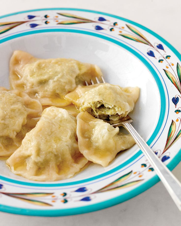 Meat Piroshki With Cheese: Pierogi With Cabbage Filling And Clarified Butter