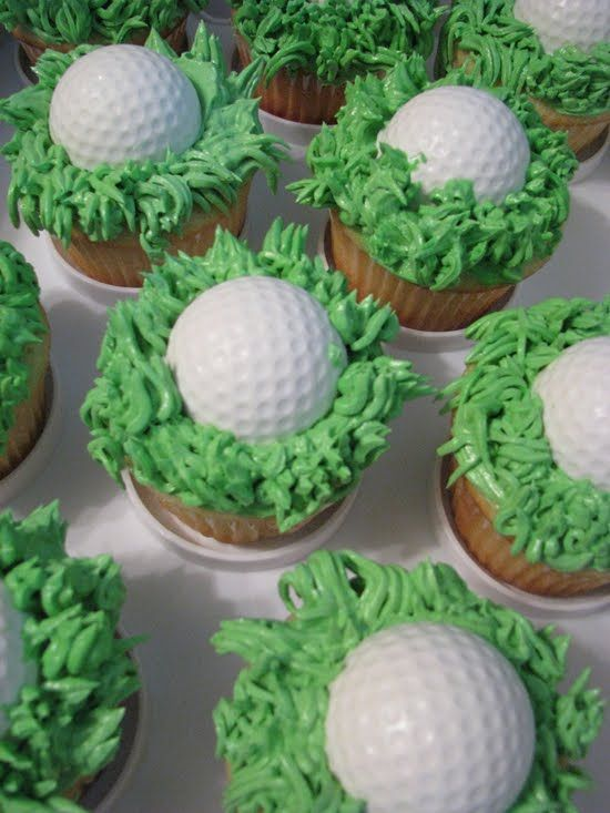 Too cute for Father's Day - A gift for a day of golfing and the kids can eat the cupcakes with him.  :-)