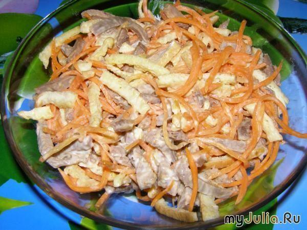 Салат копченая куриная грудка морковь картофель сыр