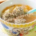 Детские рецепты- суп с фрикадельками в мультиварке