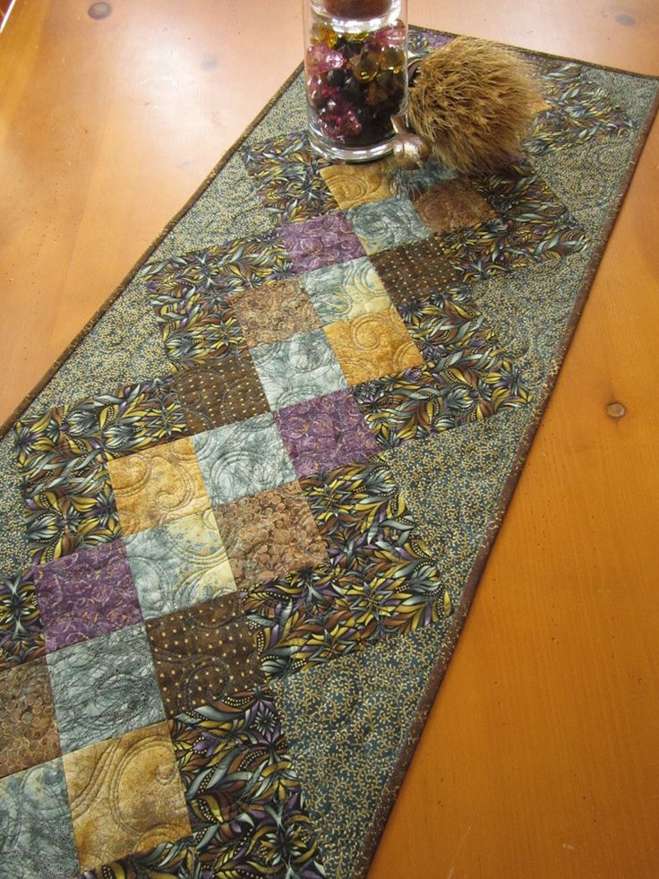 Pinterest Quilting Table Runners : Table Runner Quilted Home Decor by patchworkmountain.com Handmade Patchwork Quilts, Table ...