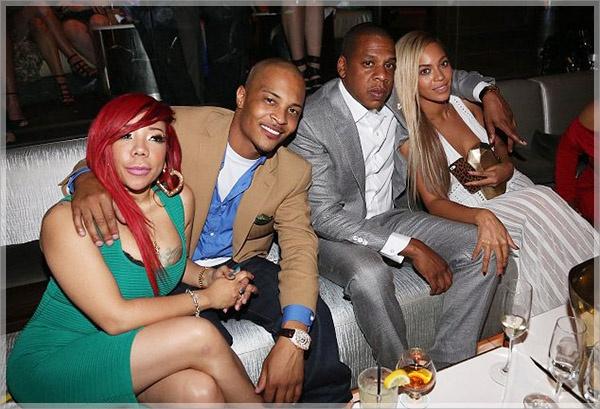Jay Z Beyonce TI and Tameka attend 4040 Club 10th Anniversary