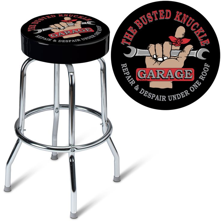 Busted Knuckle Garage Full Swivel Car Guy Stool Sure Beats Sitting On A Milk Crate