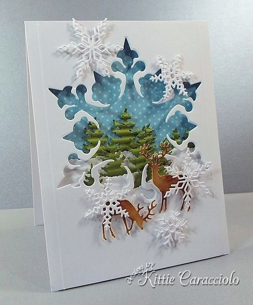 Let It Snow Scene by kittie747 - Cards and Paper Crafts at Splitcoaststampers